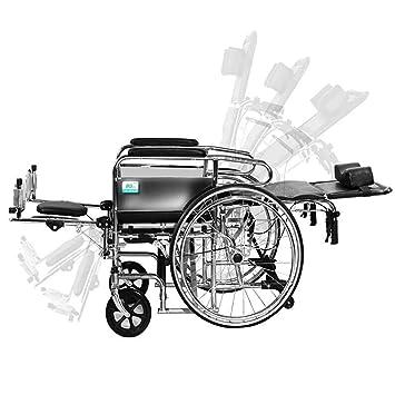 DPPAN Drive Medical Transport Silla de ruedas Tubería de acero plegable, portátil y plegable liviana
