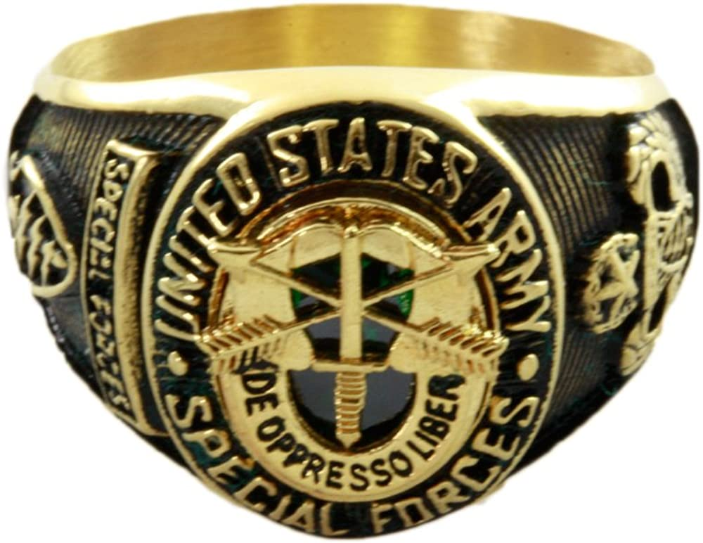 US-Army Special Forces Spezialeinheit Armee Herren Ring Milit/är