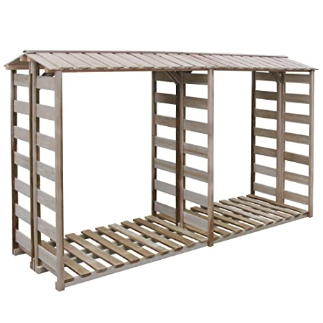 binzhoueushopping deposito para la Madera para caseta 300 x 100 x 176 cm Pino impregnado Porta
