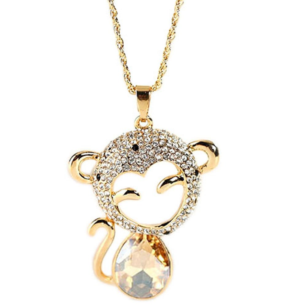 Chaomingzhen Gold Plated Crystal Dolphin Long Pendants Necklaces for Women Fashion Jewelry