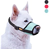 wintchuk Soft Dog Muzzle with Mesh Design, Breathable Dog Mouth Cover for Small Medium Large Dogs, Anti-Biting Barking…