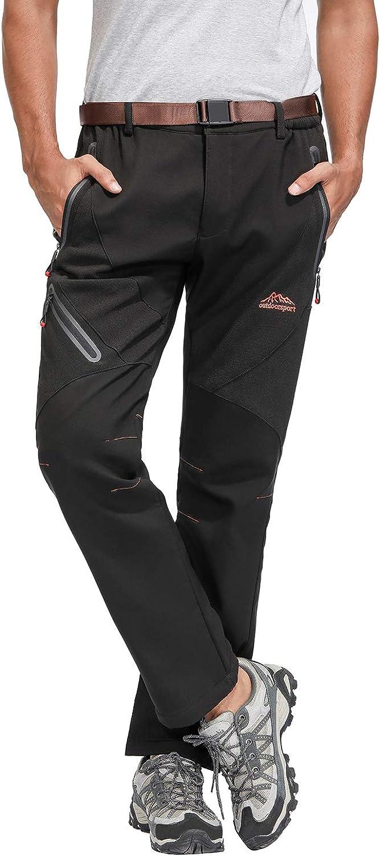 BenBoy Pantalones Impermeables para Mujer Trekking Pantalones de la Lluvia de Respirable Monta/ña Escalada Senderismo Softshell