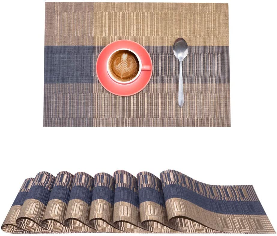 Akway Placemats Set of 8 Washable Table Mats Place Mats for Dining Table SB-Zong-8