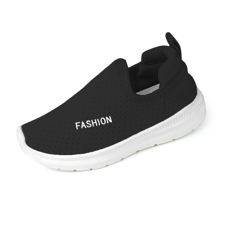 RVROVIC Kids Boys Girls Sneakers - Breathable Mesh Lightweight Slip-On Toddler Casual Walking Running Shoes