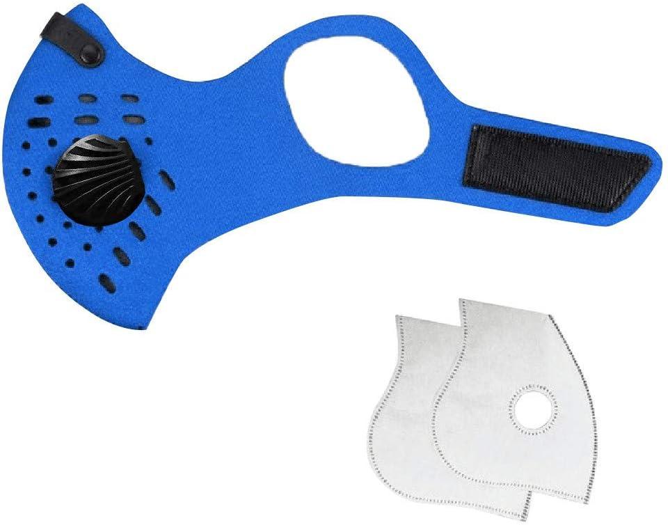 GUNGUN Mascarillas desechables Antipolvo Transpirable Antiniebla Antipolución Hombres y mujeres Máscara azul de tres capas con gancho para la oreja Clip de nariz