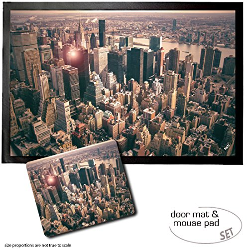 set-1-door-mat-floor-mat-24x16-inches-1-mouse-pad-9x7-inches-new-york-midtown-manhattan-skyline-from