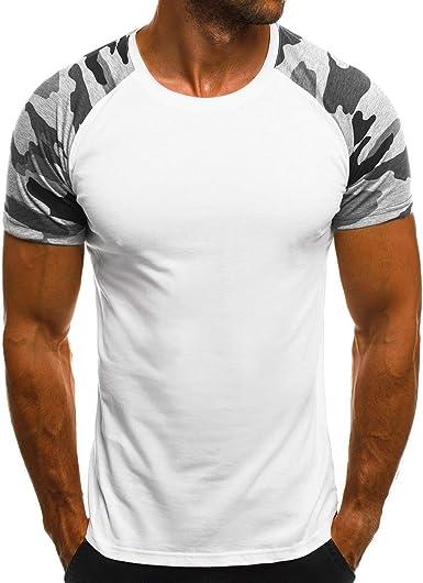 Vska Mens Camouflage Color Sleeveless Oversized Splicing Vests Tank Top