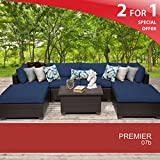 Premier 7 Piece Outdoor Wicker Patio Furniture Set 07b