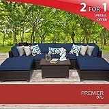 Premier 7 Piece Outdoor Wicker Patio Furniture Set 07b