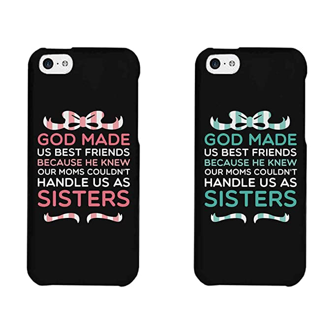 365 printing god made us black matching best friends phone cases christmas gift for bff - What To Buy Your Best Friend For Christmas