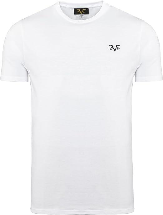 Brand New Versace1969 ITALIA Abstract 19V69 Foil Print Tee Shirt Cotton XL