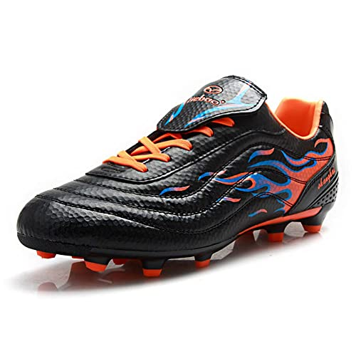 233fc5ba0 Tiebao Boys Mens Cool Cleats Football Shoes For Firm Ground Lace Up Soccer  Sneakers Black S75535