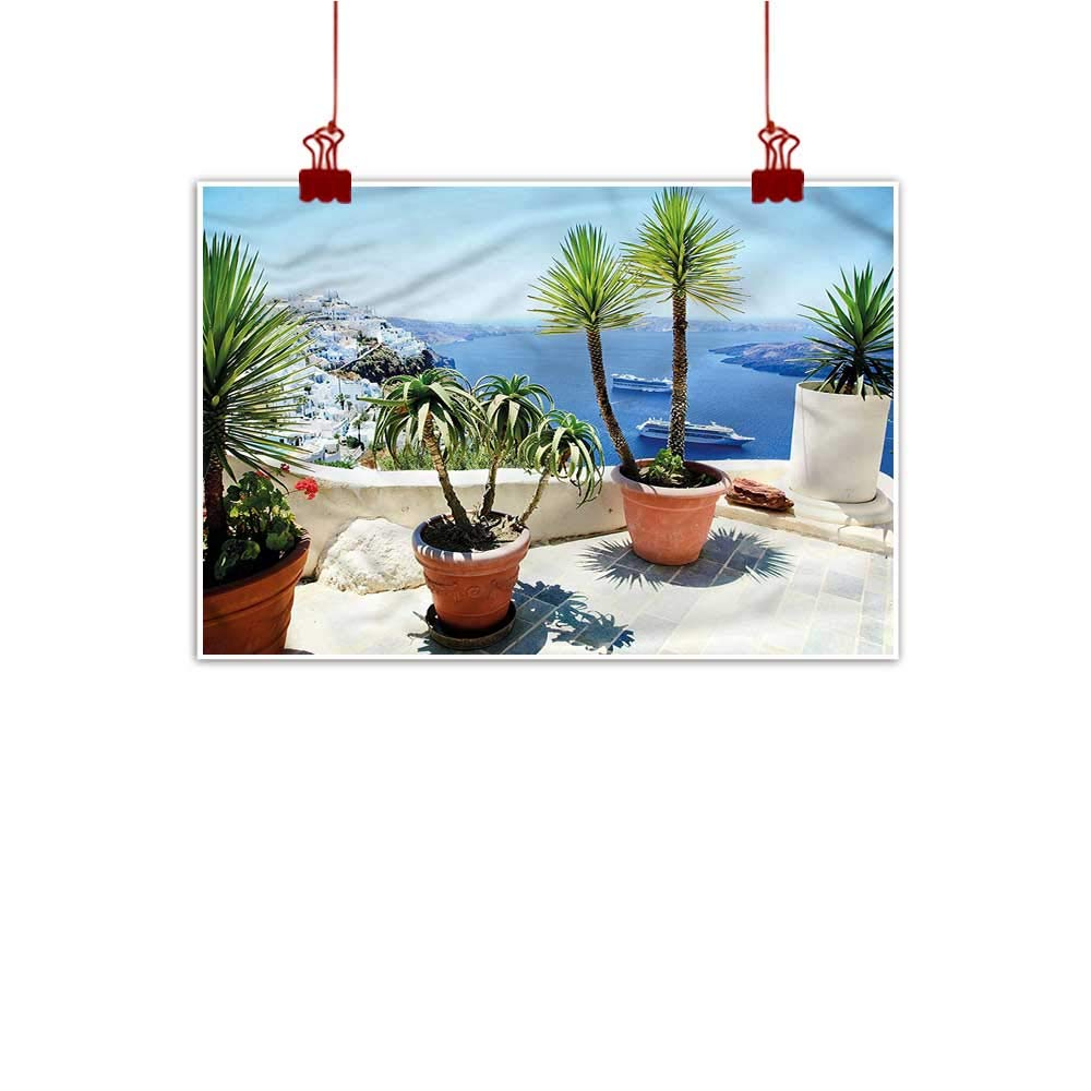 color13 24 x20  (60cm x 50cm) Mangooly Outdoor Nature Inspiration Poster Wilderness Travel,Santorini Touristic Place for Bathroom Bedroom Pictures