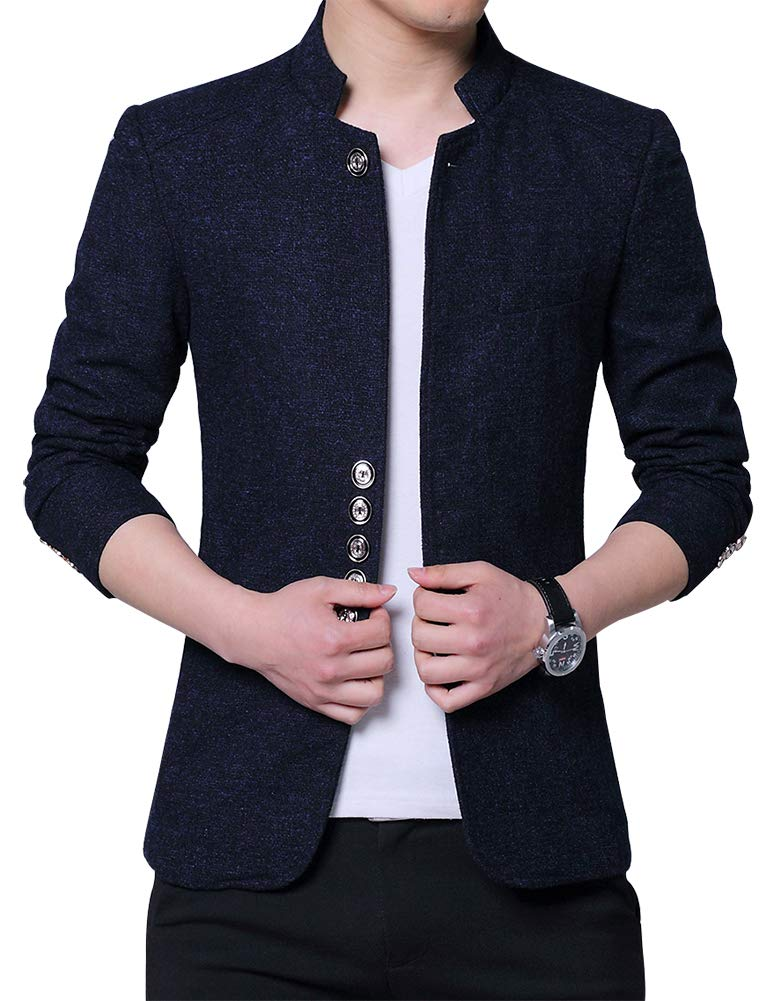 BiSHE Mens Plaid Cotton Blend Tweed Blazer Coat Smart Formal Dinner Suits Jacket Men DYGM603