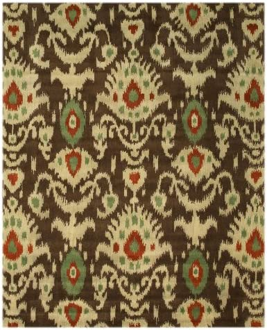 EORC IE26BN Hand Tufted Wool Ikat Rug