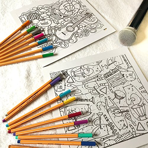 Made With Tone, Coloring Music Puzzle for KIDS! Pack of 2 Fun Coloring Puzzles for Childrens and Toddlers! 24 pieces, 10 x 10 inches!