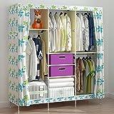 Generic New Super Large Triple Folding Portable Clothes Wardrobe Closet Bedroom Furniture + Free 2 Storage Boxes