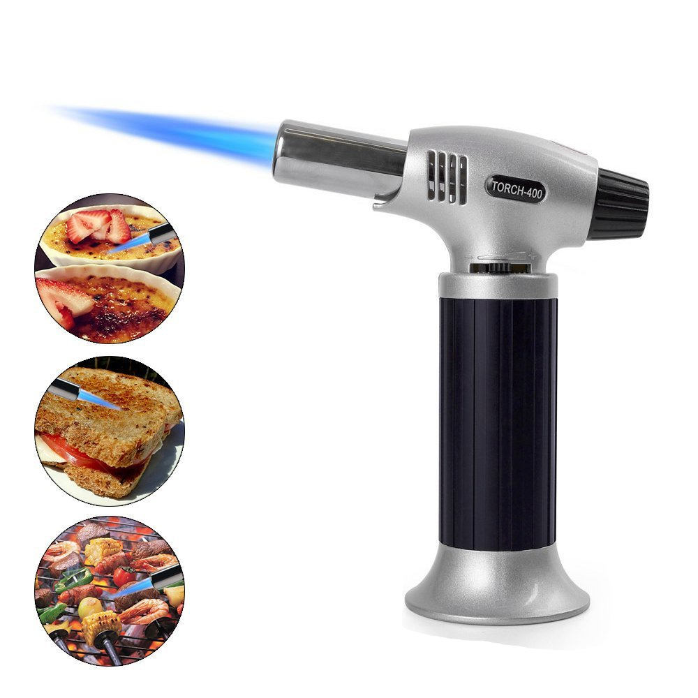 Ypres SU Culinary Torch - Kitchen Professional Chef's set Ideal for Creme Brulee,Cooking,Baking,Desserts,BBQ,Meat,grill - with Safety Lock Adjustable Flame and Butane Gas Refillable Lighter