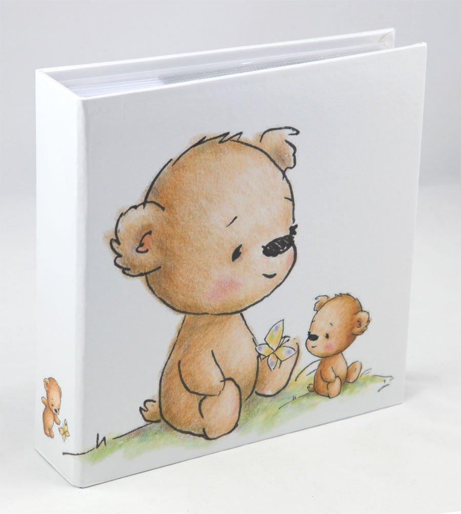Ideal Teddybär Fotoalbum für 200 Fotos in 10x15 cm Baby Kinder Foto Album Memoalbum