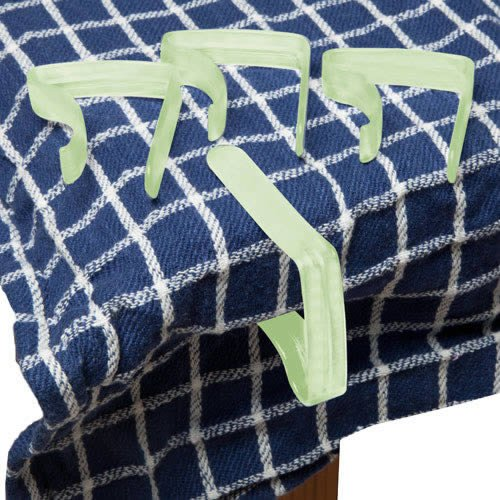 4 Green Table cloth clips from Caraselle
