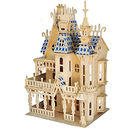 Big Dream Villa 3d Wooden Puzzle Model Woodworking Building Kit Building Toy Craft Puzzle Top Birthday Gifts For Boys And Girls 8 Years Old And