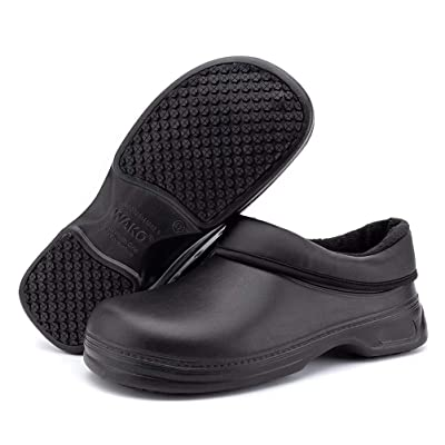 Women's and Men's Slip Resistant Work Shoes Comfort Slip on Chef or Nursing Shoes: Shoes