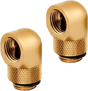 Corsair Hydro X Series 90° Rotary Adapter, Gold, 2-Pack