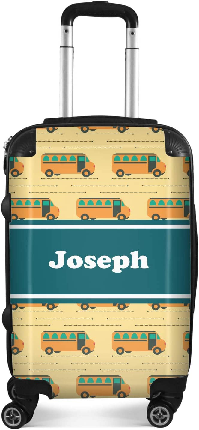 20 Carry On Personalized School Bus Suitcase