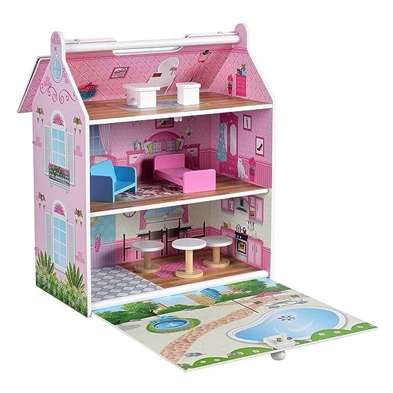 Amazon.es: ColorBaby - Casa muñecas 34 x 22 x 40 cm (85295): Juguetes y juegos