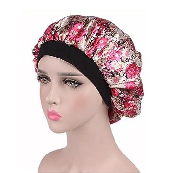 58b9410cec5 Silk cap for women elastic band sleep night cap hair care satin bonnet jpg  355x355 Night