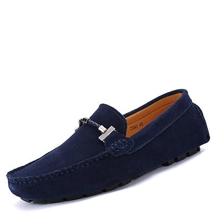 Hongjun-shoes, Conducción de los Hombres Mocasines con Capucha Baja Trabajo Hecho a Mano