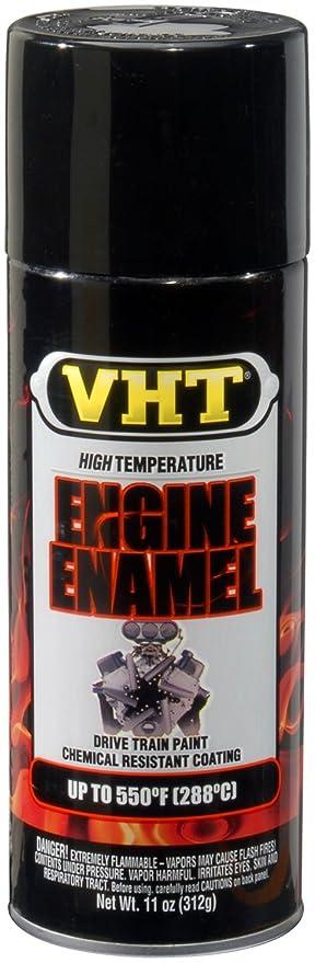 VHT ESP124007 Engine Enamel Gloss Black Can - 11 oz