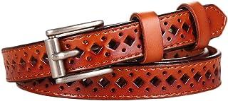 Lumanuby 1x Deco Gürtel mit Loch aus PU Leder Verstellbarer Belt für Strickjacke/Kleid/Rock 116*1.8cm Geeignet für alle Jahreszeiten, Gürtel Serie (Braun)