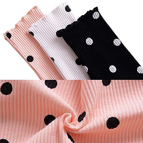 Zhuotop Bébé Manches Dot Kid Fille Longues Filles Tulles Partie Noire Robe Formelle