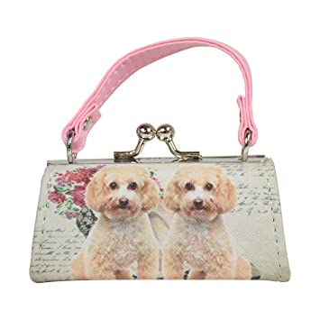 ef90e6750acb Dog Lover Lipstick Case with Handle Mini Mahjong Coin Purse - Light Pink