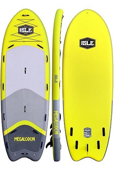Amazon.com: ISLE Surf and SUP Megalodon - Tabla hinchable ...