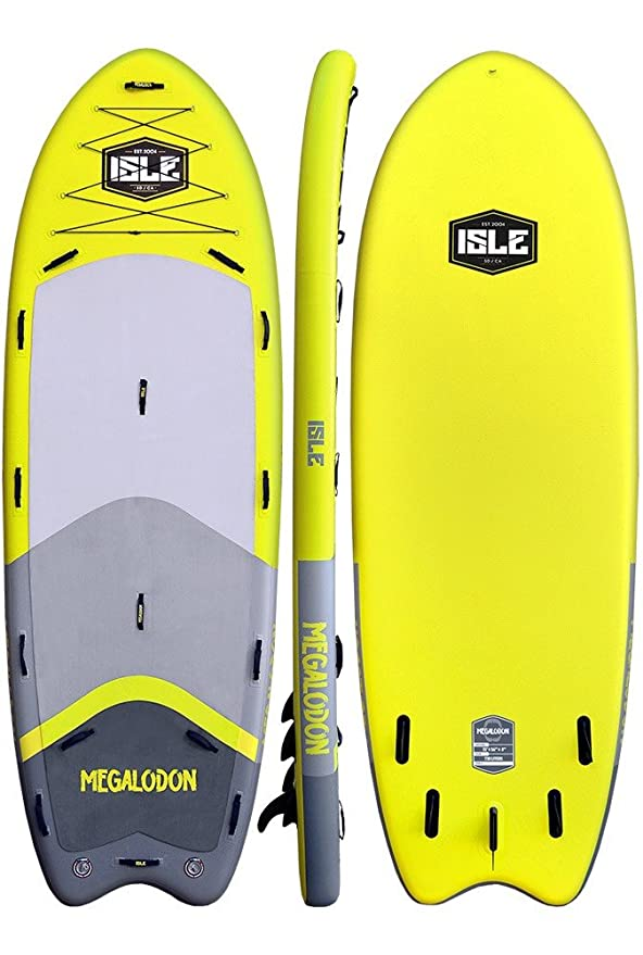 Amazon.com: ISLE Surf and SUP Megalodon - Tabla hinchable ...