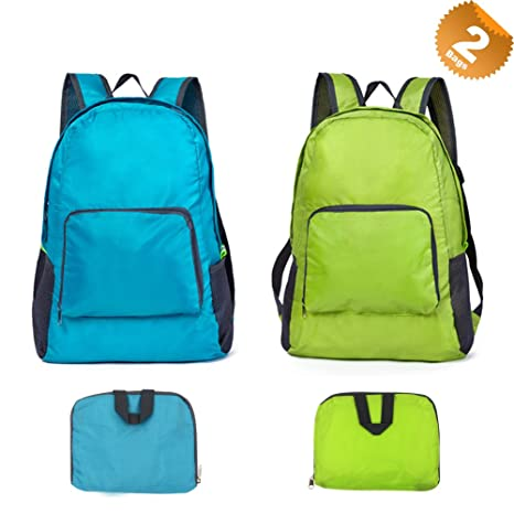 EuTengHao 2Pcs Packable Lightweight Backpack Travel Hiking Backpack Water  Resistant Durable Hiking Outdoor Waterproof Easy- 2ac994dee5270