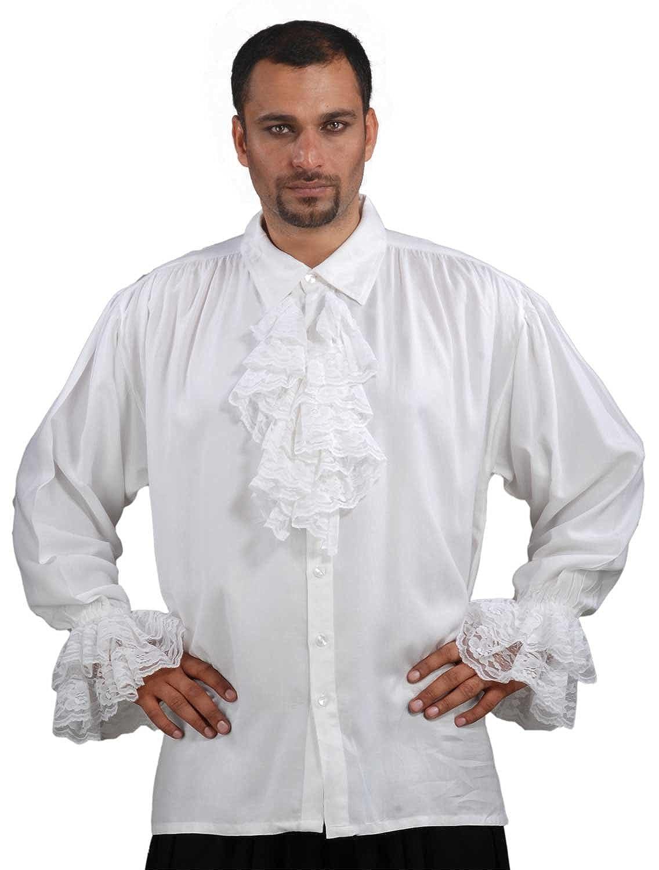 Medieval Poet's Pirate John Calles Shirt Costume [White] D0-5HR5-DRD1