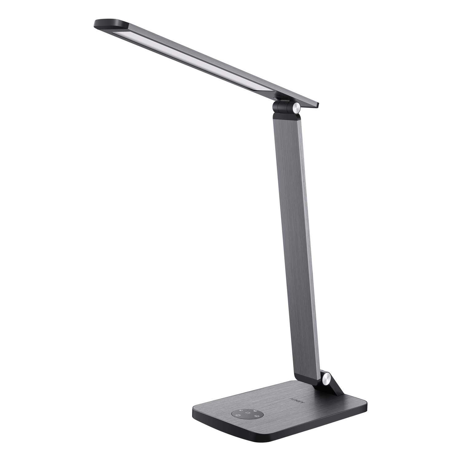 AUKEY Reading Lamp, 10W Metal LED Table Light with High-Speed USB Charging Port, Stepless Brightness & Color Temperature, Touch Control, Timer