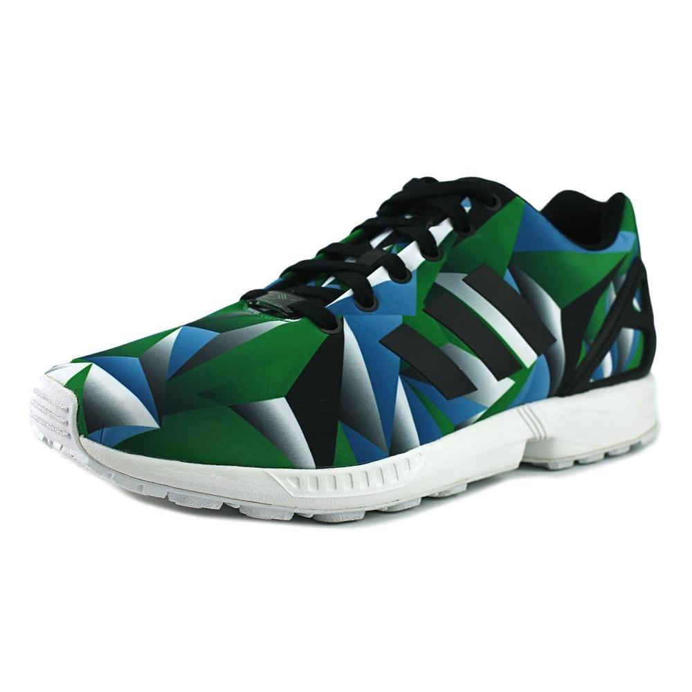 best cheap ee096 3af4f adidas ZX Flux Blue Mosaic Photo Print (White/Blue/Green ...