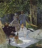 'Luncheon On The Grass 1865 By Claude Monet' Oil Painting, 16x18 Inch / 41x46 Cm ,printed On Perfect Effect Canvas ,this High Quality Art Decorative Canvas Prints Is Perfectly Suitalbe For Hallway Decoration And Home Decor And Gifts