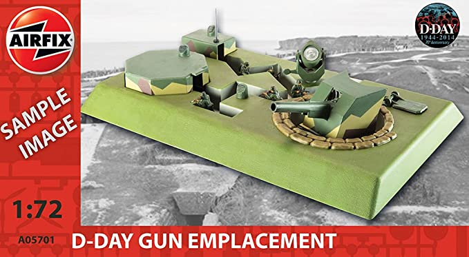 Airfix D-Day Gun Emplacement () Model Kit (1:72 Scale)