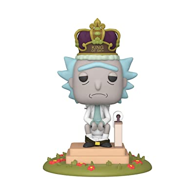 Funko Pop! Deluxe: Rick and Morty - King of $#!+ with Sound, Multicolour: Toys & Games