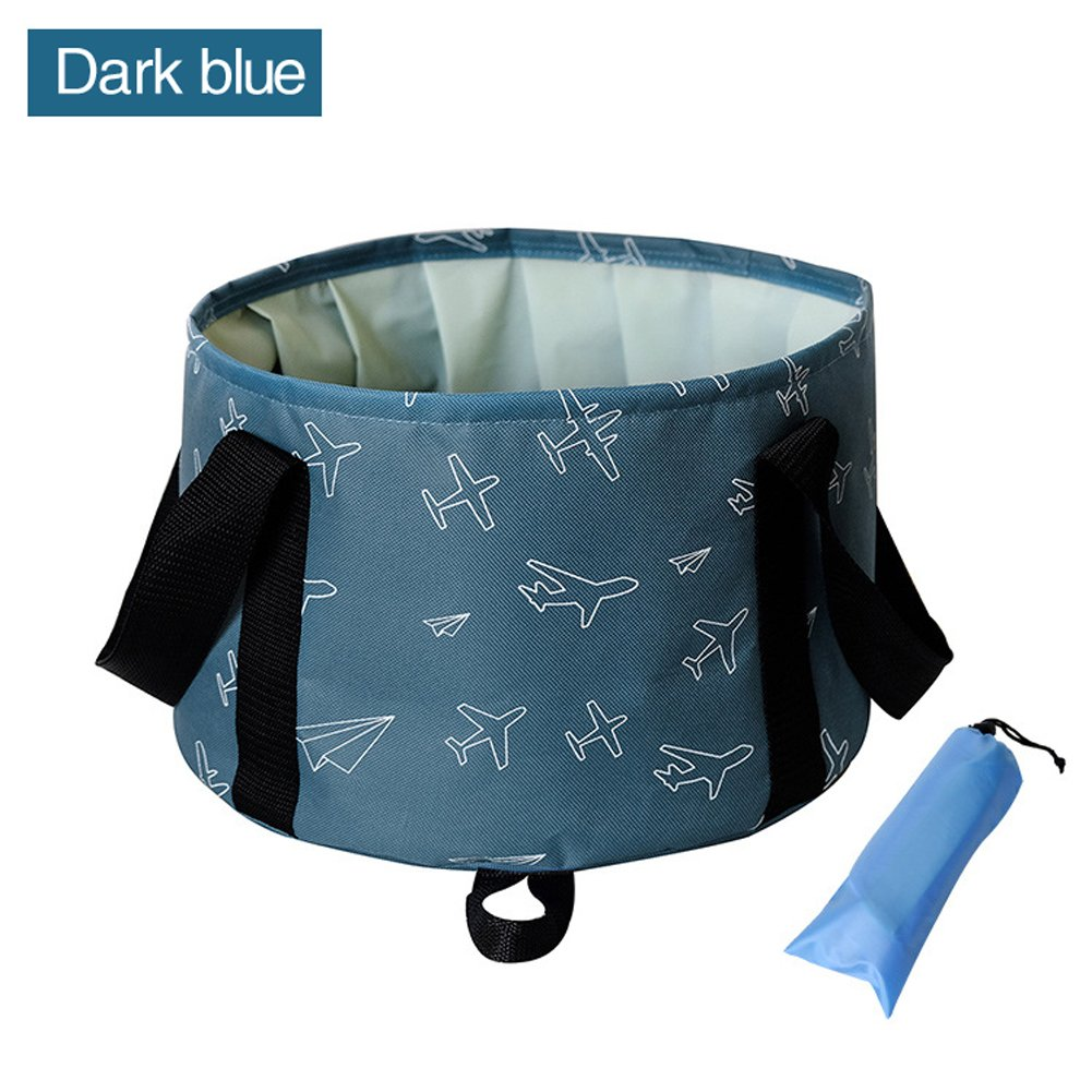 Collapsible Bucket by KSANA 10L Portable Multifunctional Folding Travel Outdoor Wash Basin for Camping Hiking Travelling Fishing Washing  (Dark Blue)