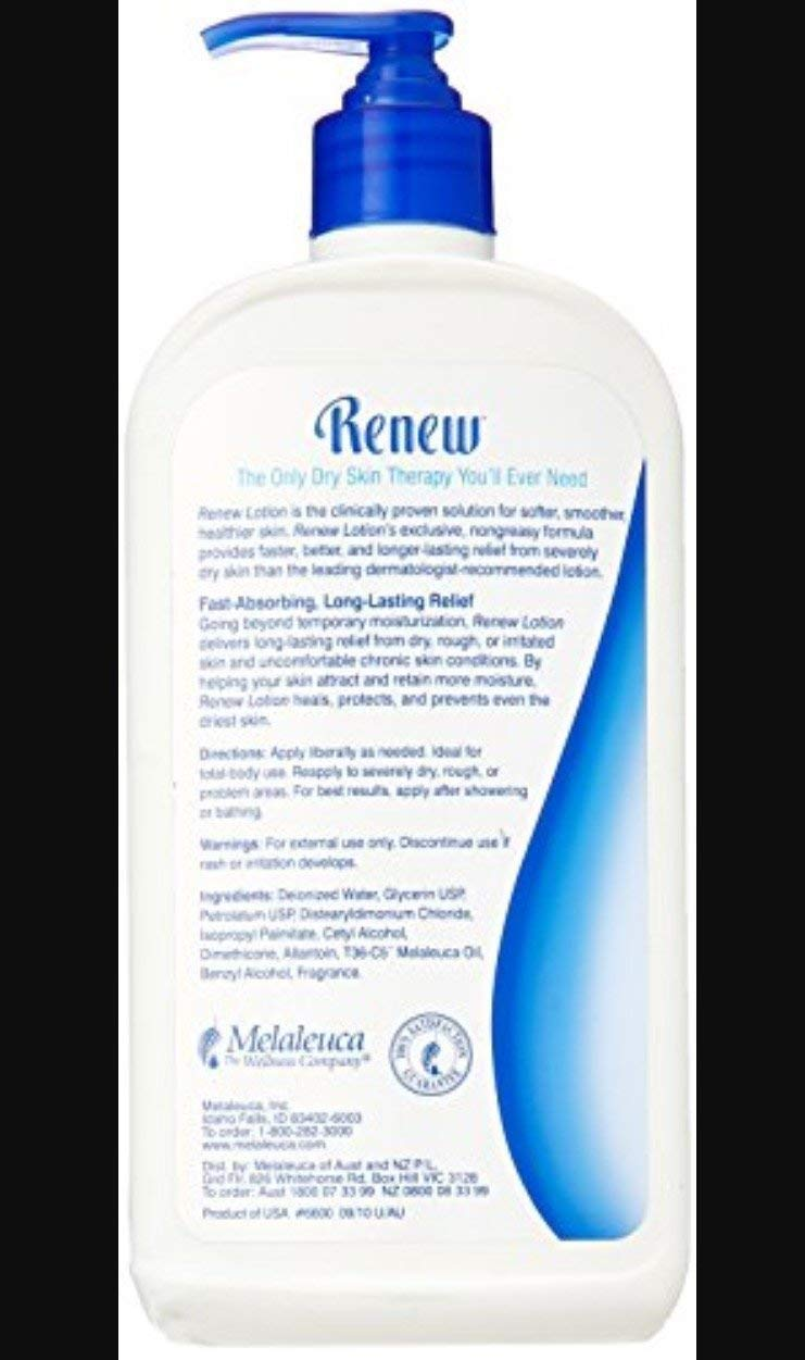 Melaleuca Renew Intensive Skin Therapy 20oz Bottle- 2 Pack