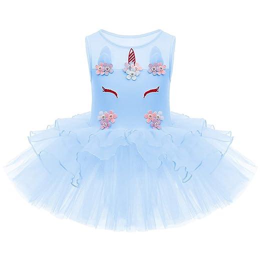 Girls Gymnastics Ballet Dress Baby Kids Leotard Tutus Skirt Dance wear Costume