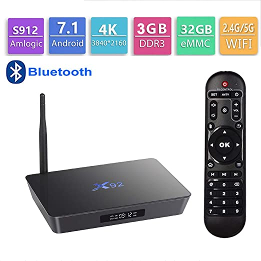 GALEI Andriod 7.1 TV Box, decodificador Bluetooth HD 3GB RAM + 32ROM WiFi 2.4G / 5G, Smart 4K Media Player con Control Remoto: Amazon.es: Hogar