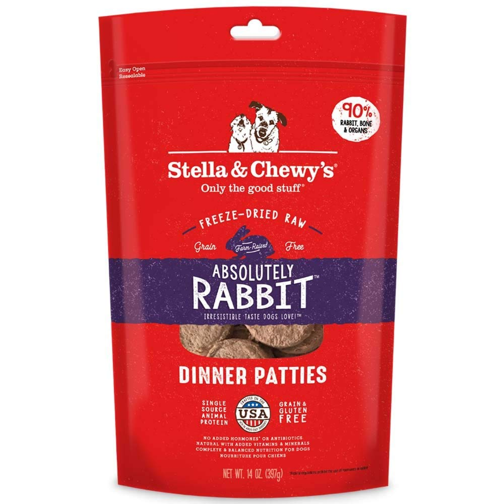 15-Ounce Stella & Chewy's Freeze-Dried Raw Absolutely Rabbit Dinner Patties for Dogs, 14 oz.