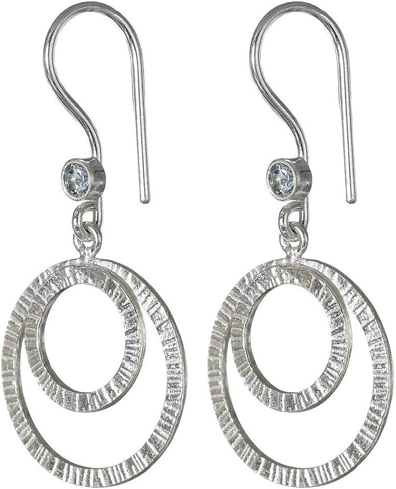 I-be 397221/2K Topas - Pendientes de piedras preciosas (plata 925, en estuche de regalo), color azul